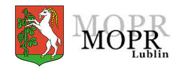 Herb Lublina i logo MOPR