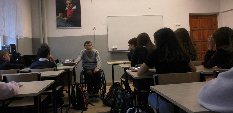 Osoby niepełnosprawne - prelekcje w lubelskich szkołach